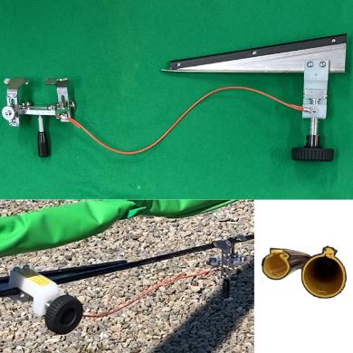 低圧線防護管挿入機